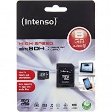 CARD MICRO SDHC 8GB CLASS 10 INTENSO ME ADAPTOR CARD